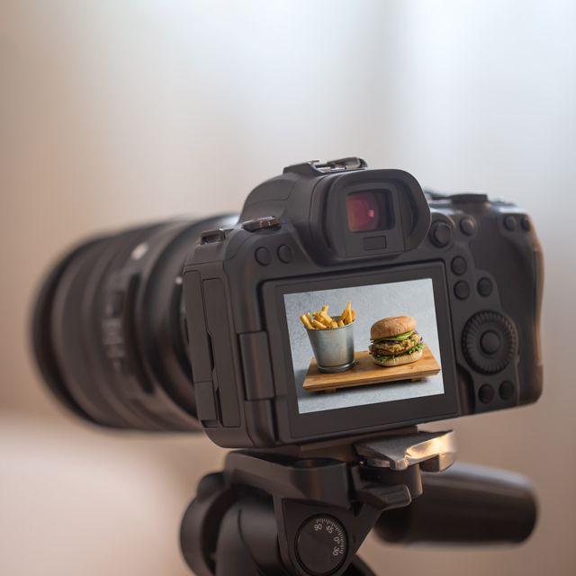 trípode fotografía gastronómica.